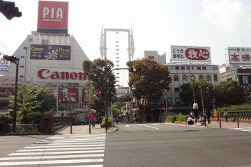 Entrance to the Isezaki-cho Shopping mall, coming from JR Kannai Station