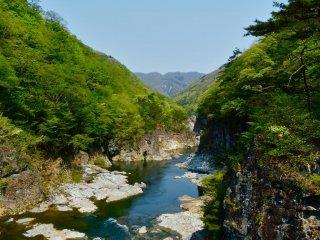 Вода в этой части реки синяя