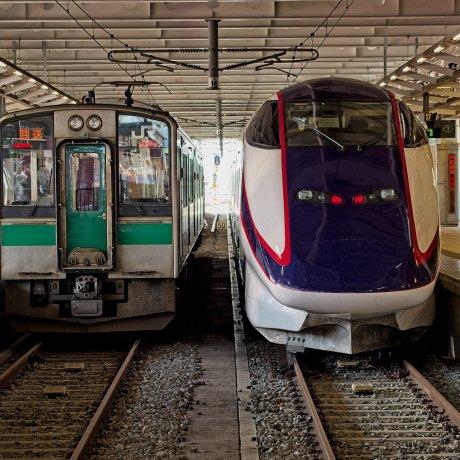 Yamagata to Akita by Train