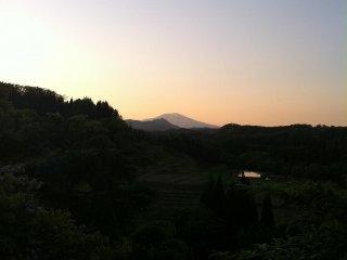 Mount Chokai in the distance