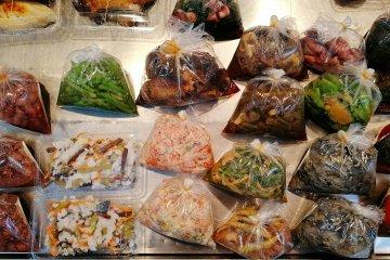 Steamed and grilled vegetables