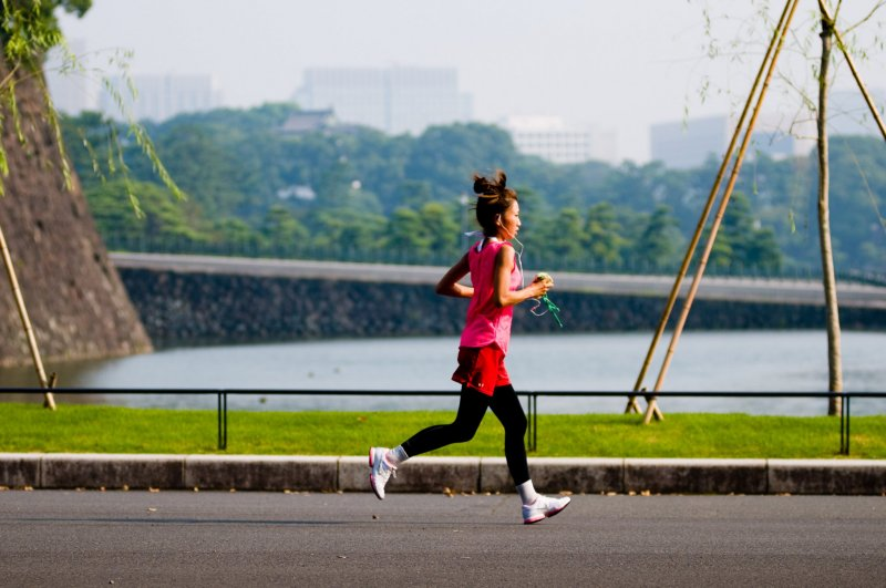 Jogger at the Imperial Palace