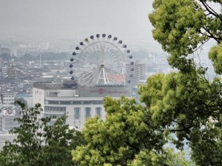 'Kururin' Ferris wheel is easy to spot on the climb up to the castle