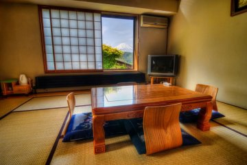A Japanese style room at the guesthouse