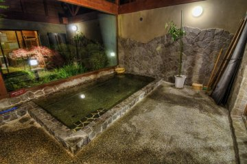 A private onsen - the door is locked behind you!