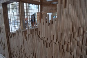 A house made of chopsticks at the Kinare Museum
