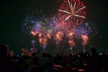 Ota Fireworks Festival by Tama River