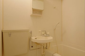 Typical apartment bathroom facilities