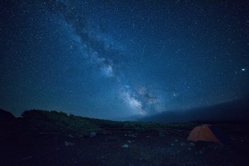 In the night the Milky Way will leave you speechless