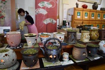Something I hadn't seen before - tea incense burners!