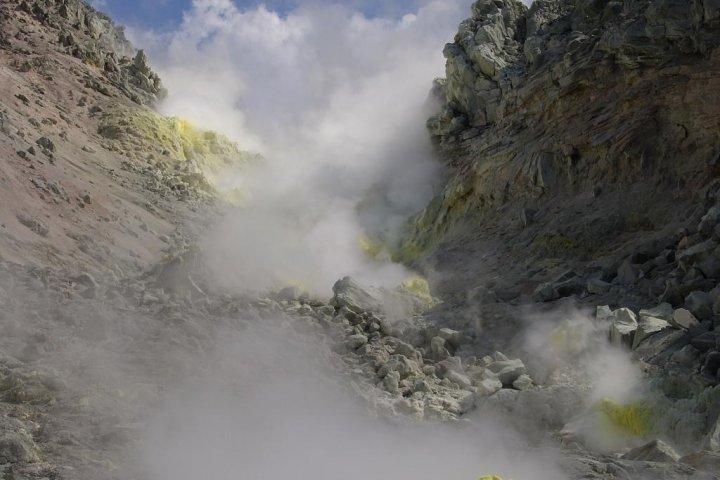 Hiking to the sulfurous Mt. Iwo