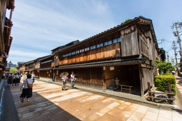 The traditional Japanese wooden architectures are very well preserved in the area.