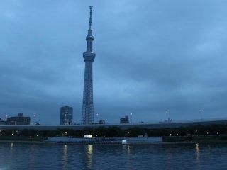 Du khách có thể nhìn thấy rõ ràng cả Tokyo Skytree lẫn ánh đèn từ dòng sông nếu ngồi ở khu vực phía bờ Đông. Đây là vị trí chụp ảnh tuyệt vời nhất!