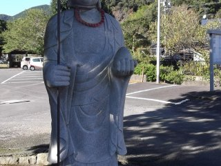 A statue by the gate