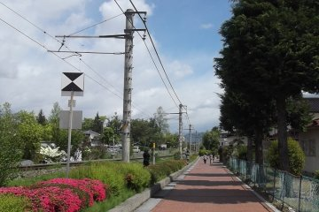 The path from Hotaka station to the museum