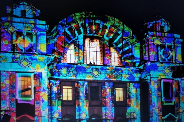 Projection Lighting in the historical Dojimahama art deco district