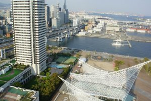 Hotel Okura, the Maritime Museum and the port side
