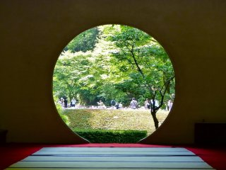 Famous round window: It shows the universe in Zen