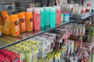 A sampling of the countless cosmetics products available for purchase.