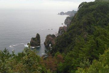 Kitayamazaki from the second lookout