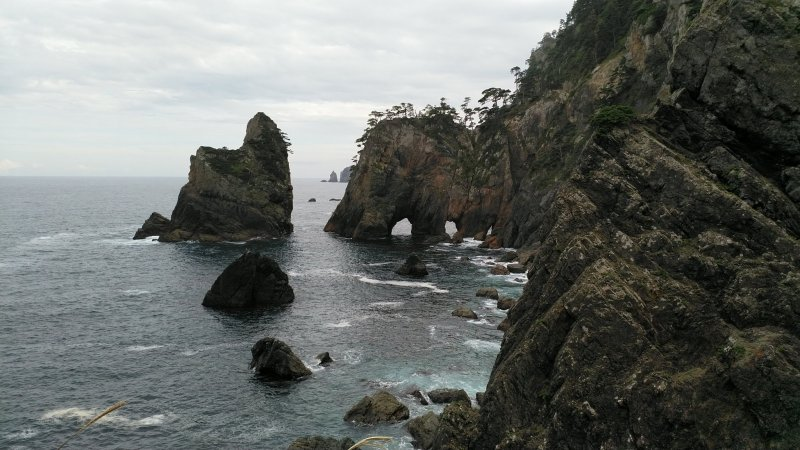The view near sea level