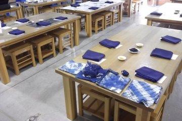 The indigo dye workshop
