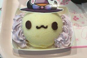 A delicious Murasaki Imo Halloween themed cake