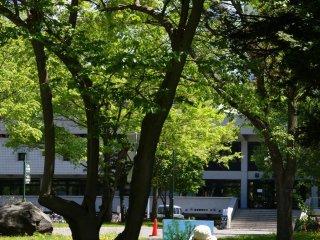 Art dans le parc du Campus de l'Université de Hokkaido