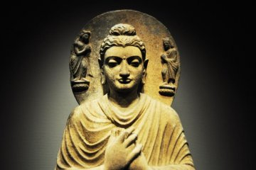 Seated Buddha from Pakistan. 2nd or 3rd century.