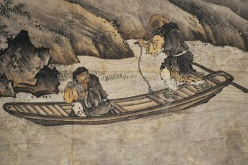 A section of Painting on Zen Enlightenment: Zen Patriarchs. 16th century.
