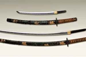 Long and short sword pair