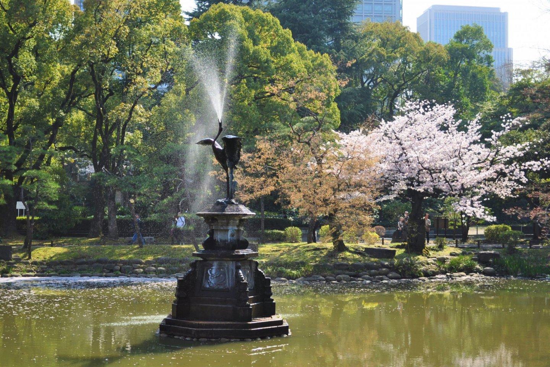히비야 공원의 아름다운 풍경중 하나