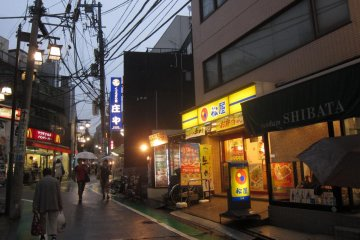 Street in the evening