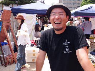 This man makes leather key holders at the Chion-ji temple Artisan Markets on the 15th of each month