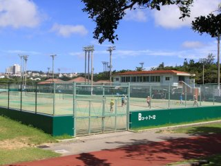 Tennis anyone? There's no waiting for a match here as there are 16 full size competition style courts
