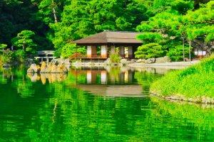 Kikugetsu-tei Tea House, Ritsurin Garden