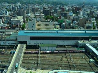 JR Morioka Station from above.