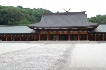 View of the Nai-Haiden, the Inner Worship Hall