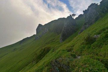 Rocks near the summit