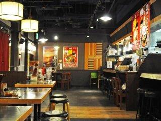 Inside of the restaurant.