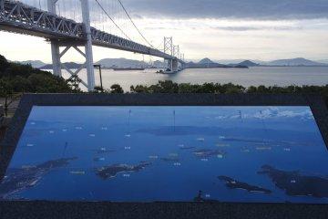 Honshu-Shikoku Bridge Map