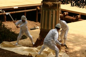 Misomahajime, the felling of a tree for the Ise Grand Shrine