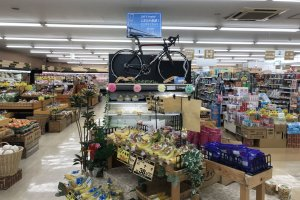 Cyclist-friendly local supermarket