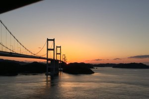 Evening scenery of Shimanami Kaido