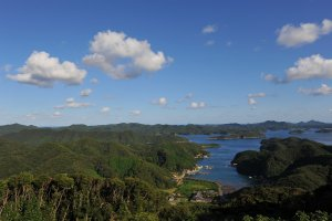 La baie d'Aso depuis Ebuto