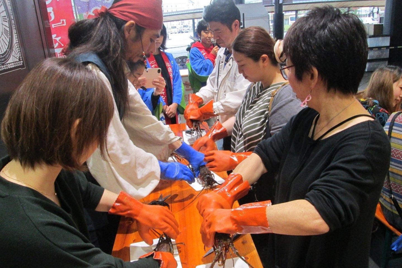 Université Tosei Amane (comment s\'y prendre avec les crevettes d'Ise)