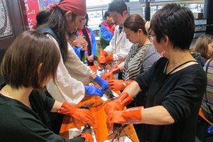 Université Tosei Amane (comment s'y prendre avec les crevettes d'Ise)