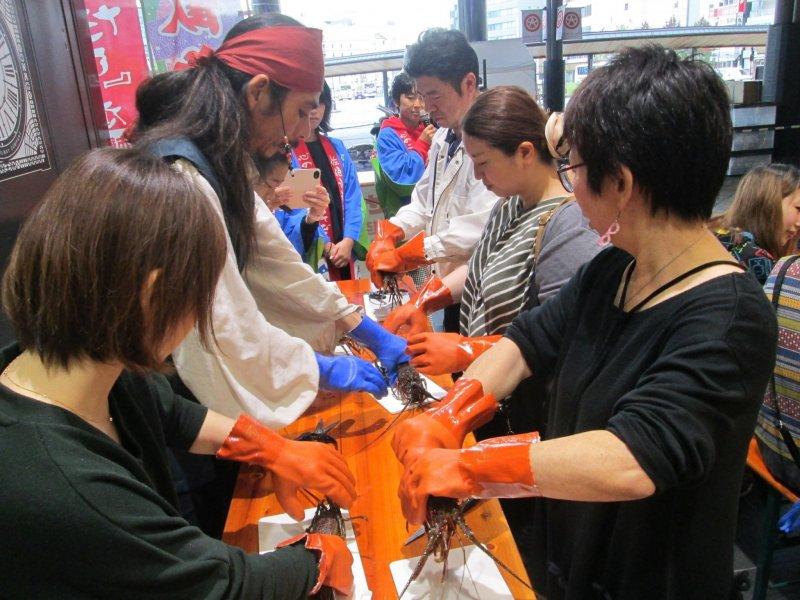Amabe Tosei University (how to handle Isei prawns)