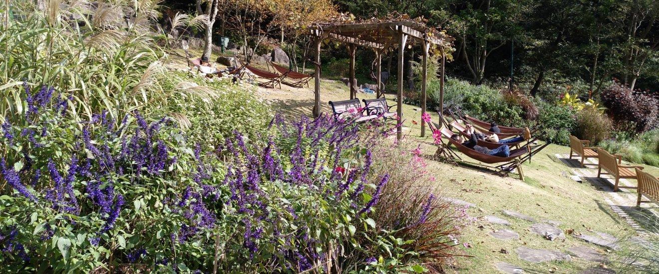 Recantos tranquilos no Jardim