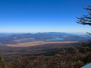 The view from stage 5, overlooking Lake Yamanaka